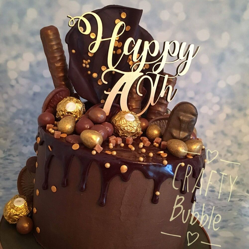 Happy Birthday Cake topper - any age 50th/60th/70th etc ...