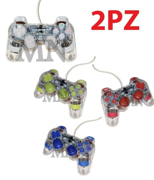mnt* JOYSTICK CON FILO COMPATIBILE PS2 PLAYSTATION 2 JOYPAD CONTROLLER 2 PEZZI