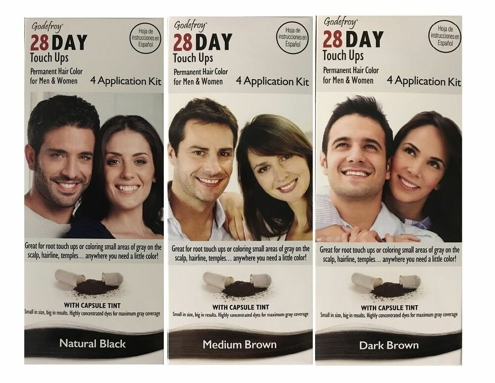 Godefroy 28 Day Touch Ups 4 Application Kit Permanent Hair Color For