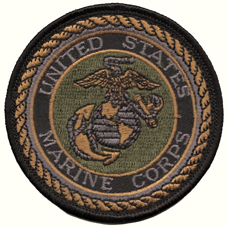 img-United States Marine Corps USMC Subdued Large Embroidered Patch