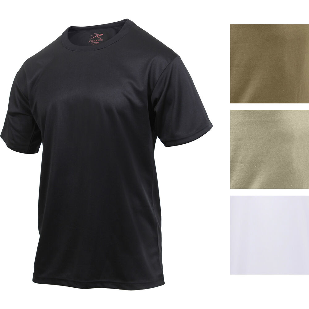 Details about Performance Quick Drying Solid T-Shirt Tactical Military Crew  Workout Army Tee 5ceb352e9b4
