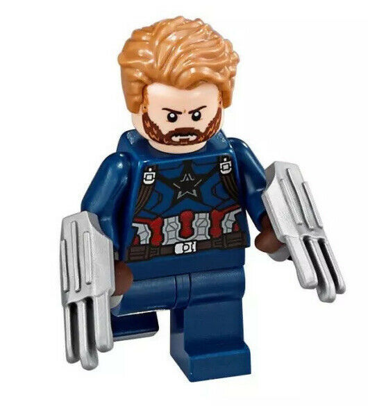 Lego avengers infinity war captain america minifigure w shield claws new 76101 ebay - Lego capitaine america ...