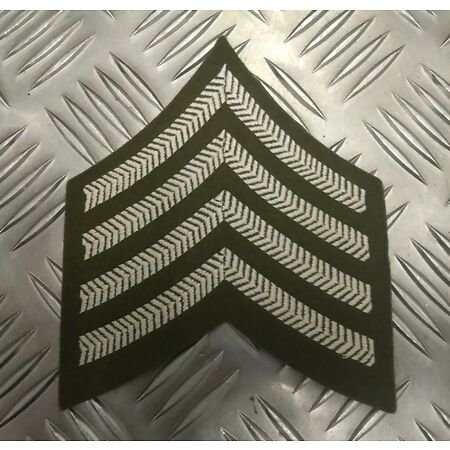 img-Genuine British Army Drum Major Rank No2 Dress Chevrons / Badge / Patch - NEW