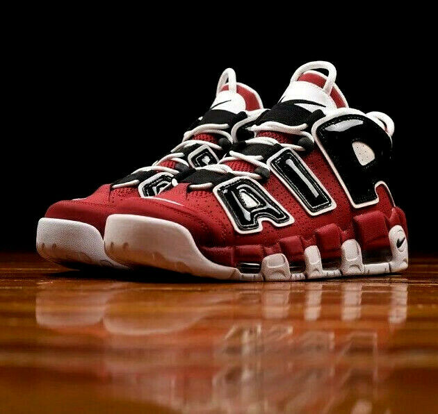 new concept 3ddc7 ee037 NIKE AIR MORE UPTEMPO ASIA HOOP PACK VARSITY RED BLACK CHICAGO BULLS PIPPEN  NEW | eBay