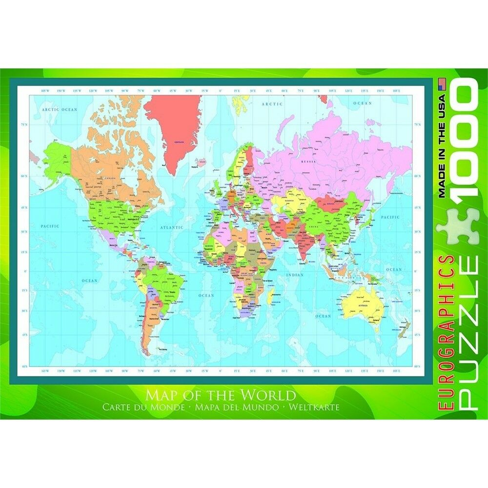 1000 Piece Map Of The World Jigsaw Puzzle - Eurographics Eg60001271 ...