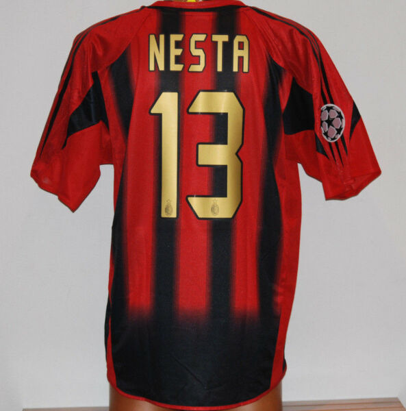 maglia NESTA milan 2004 2005 home UCL ADIDAS vintage climacool shirt maillot