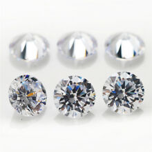 500pcs 0.7~15.0mm Round White AAAAA loose cz stone cubic zirconia gemstone