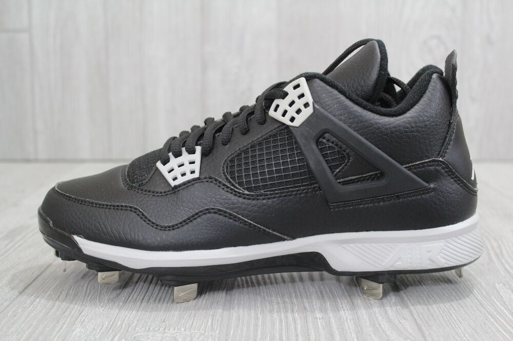 new style 6525d 12822 Details about 27 New Nike Air Jordan IV 4 Retro Metal Baseball Cleats  807710-010 Men s 8 8.5