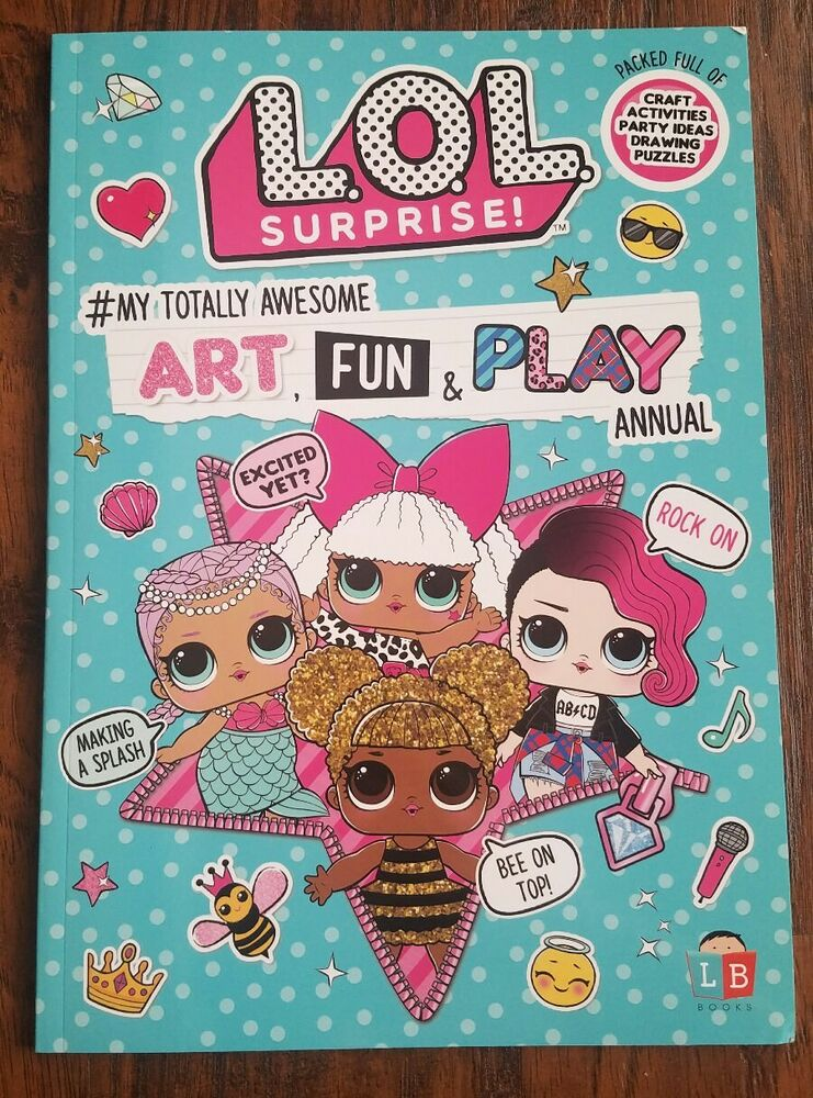Lol Surprise Doll Art Fun Play Annual Activity Book Game Party