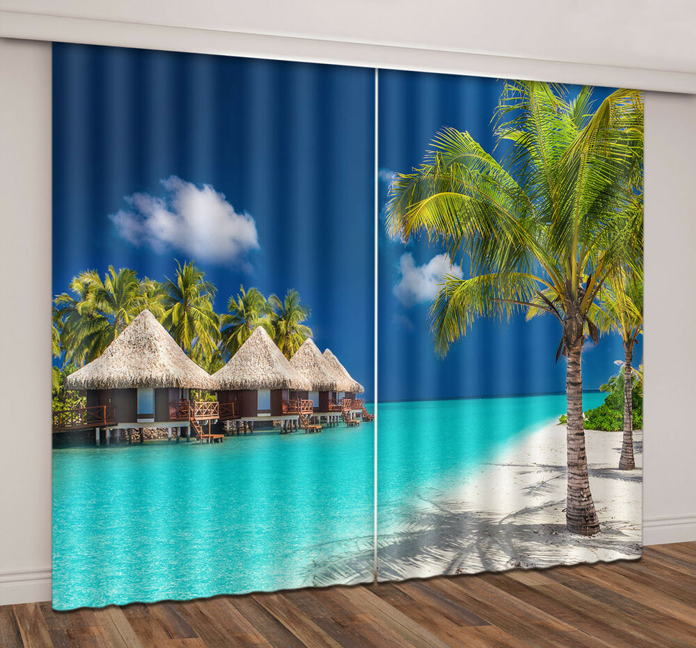 3d Printing Window Curtains Blockout Drapes Fabric