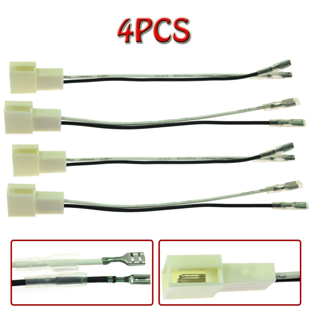 4pcs Car Speaker Connector Wire Harness For Scion Toyota Camry Radio Wiring On Jbl Get Celica Corolla Ebay
