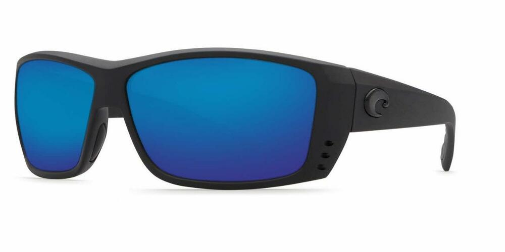961ff0085f Details about New Costa Del Mar Cat Cay Polarized Sunglasses 400G Glass  Blackout Blue Mirror