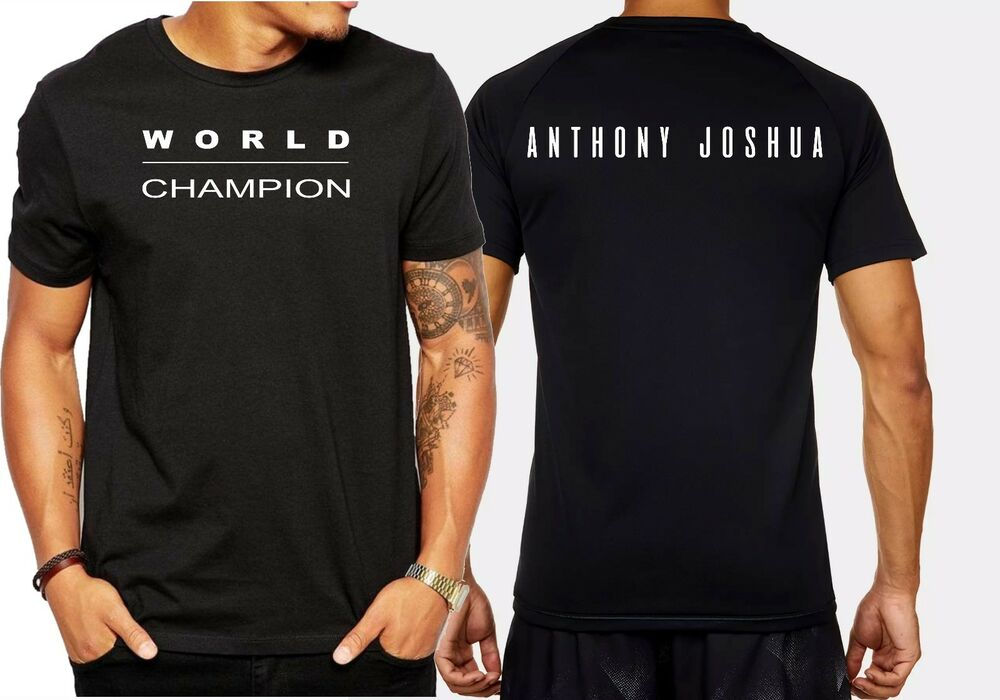 52843eaa Anthony Joshua t-shirt men's black retro cult tee boxing world champion |  eBay