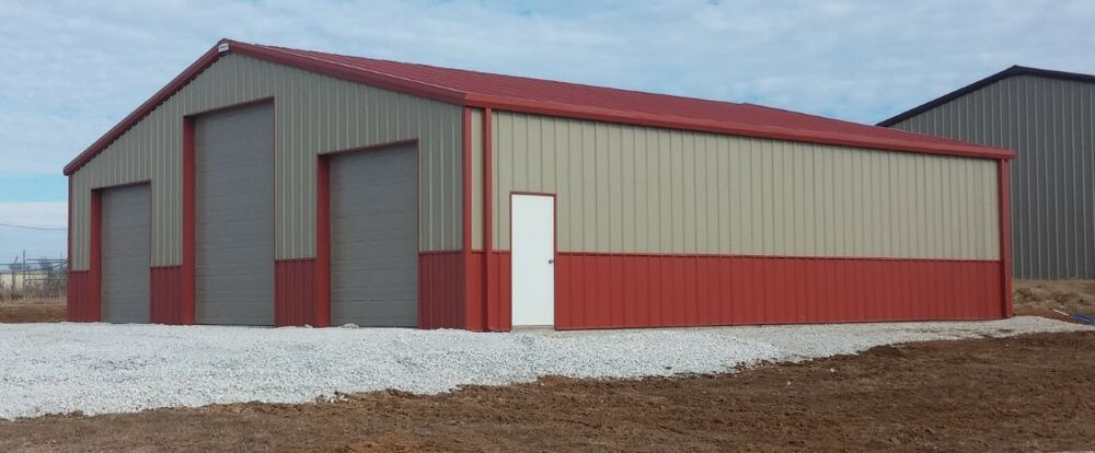 Steel building 40x60x16 simpson metal prefab building kit for Red barn prefab