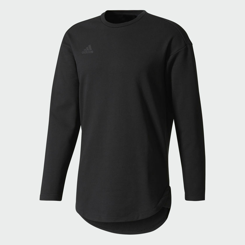 89fb30183d7 Details about Adidas Tango Future Sweatshirt Long Sleeve Shirt Gray or  Black French Terry