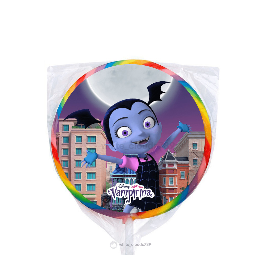 24 Disney Jr Vampirina Custom Stickers Label Bag Lollipop Birthday