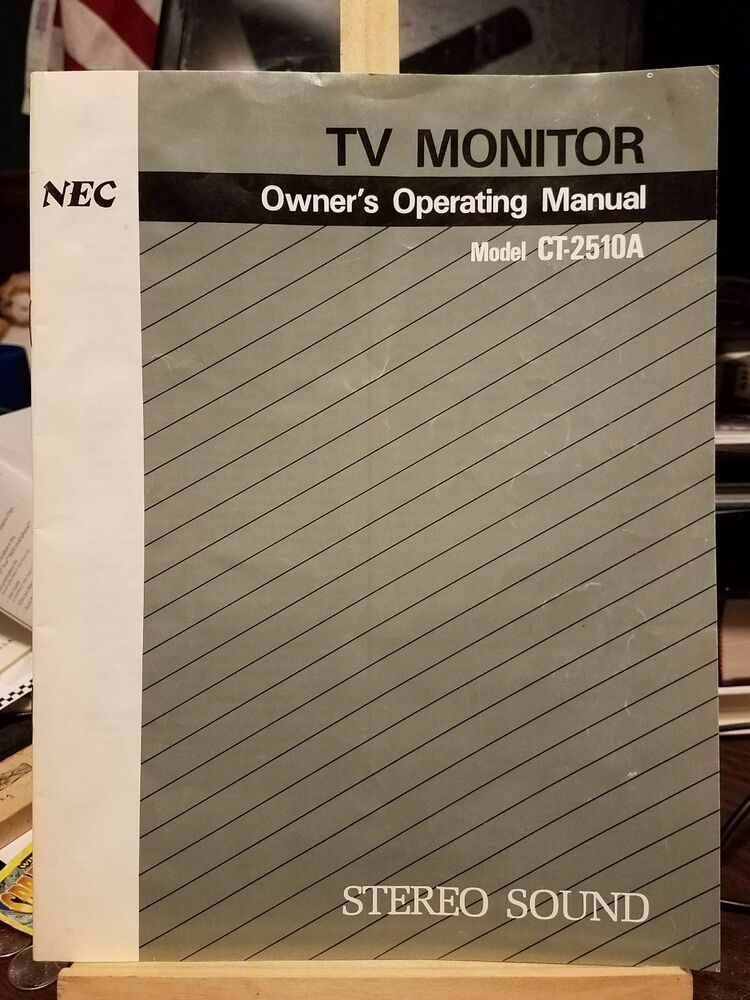 nec user manual