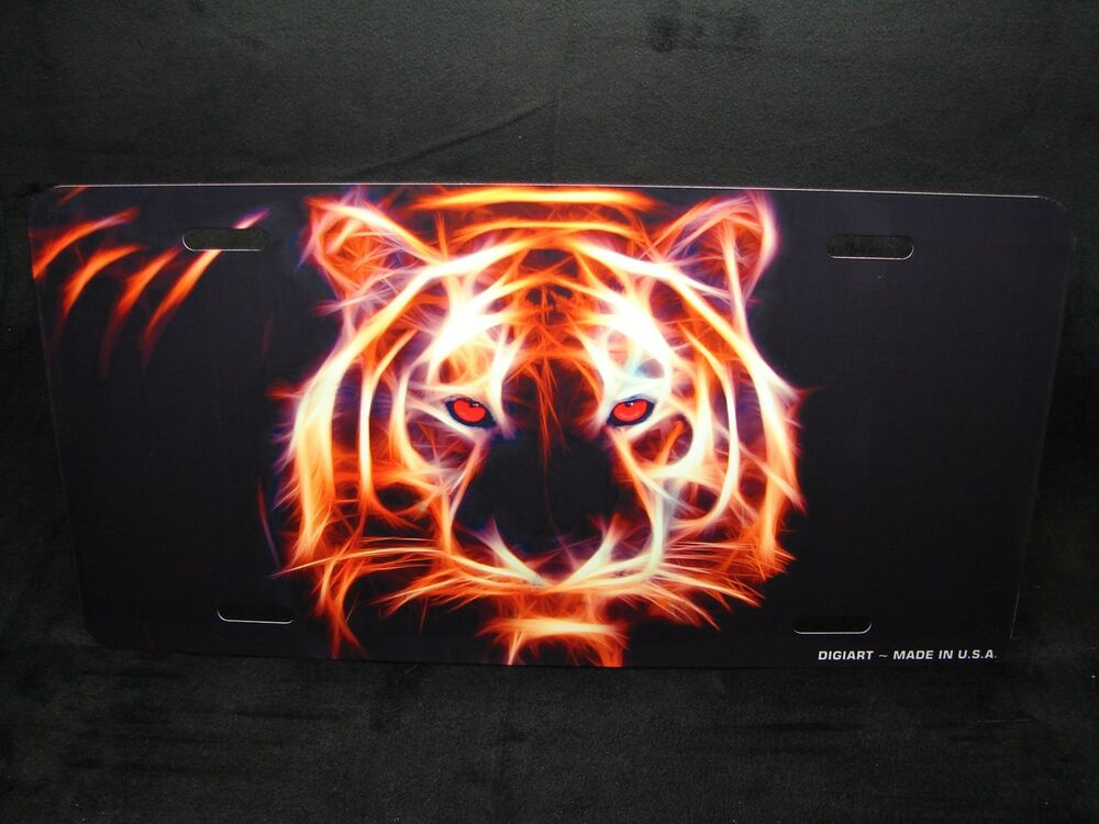 CHEETAH  METAL NOVELTY LICENSE PLATE FOR CARS  BIG CAT TIGER LION JAGUAR