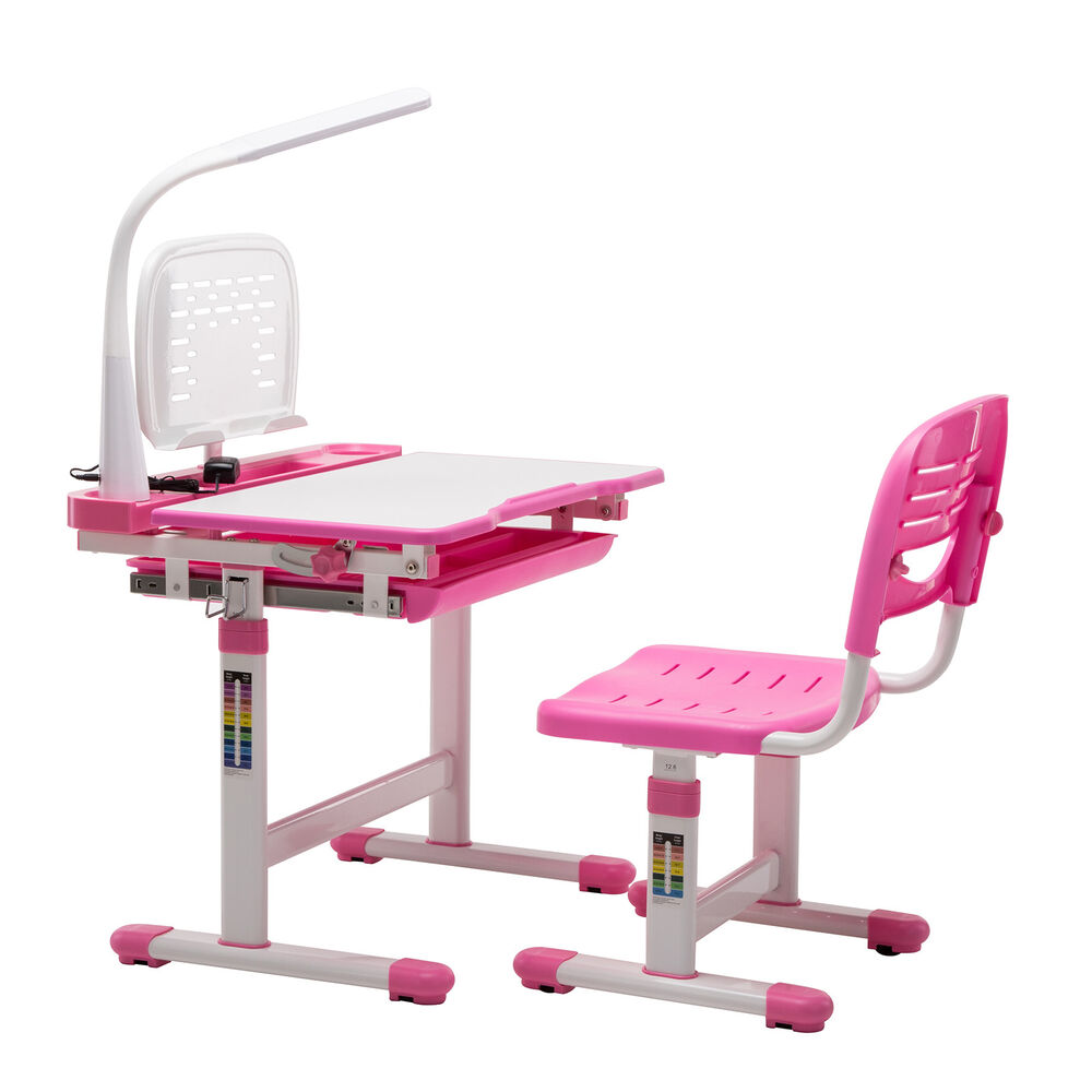 Children S Study Desk Chair Set Adjustable Kids Child