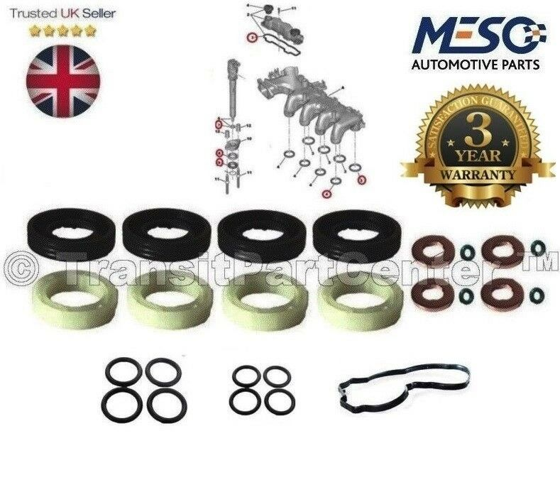 Injecteur Joint Rondelle O-Ring Kit Ford Focus Fiesta C-Max Fusion 1.6 2004 Onward