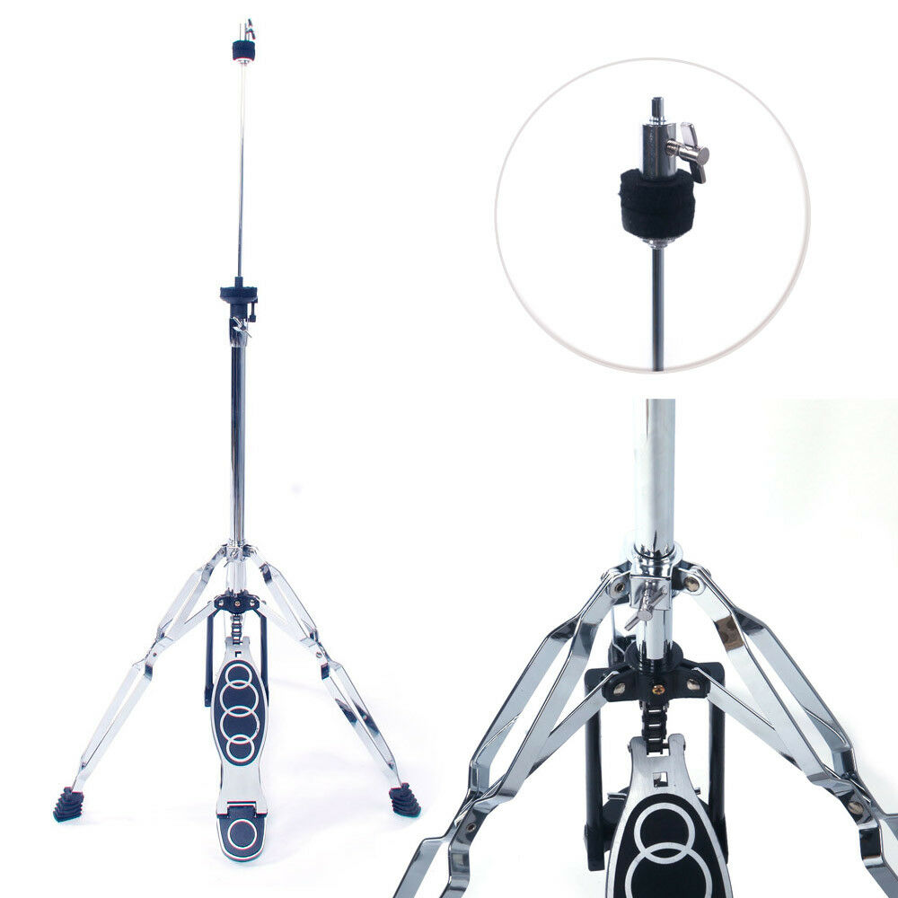 New Drum High Hat Cymbal Stand Double Braced Chrome Parts