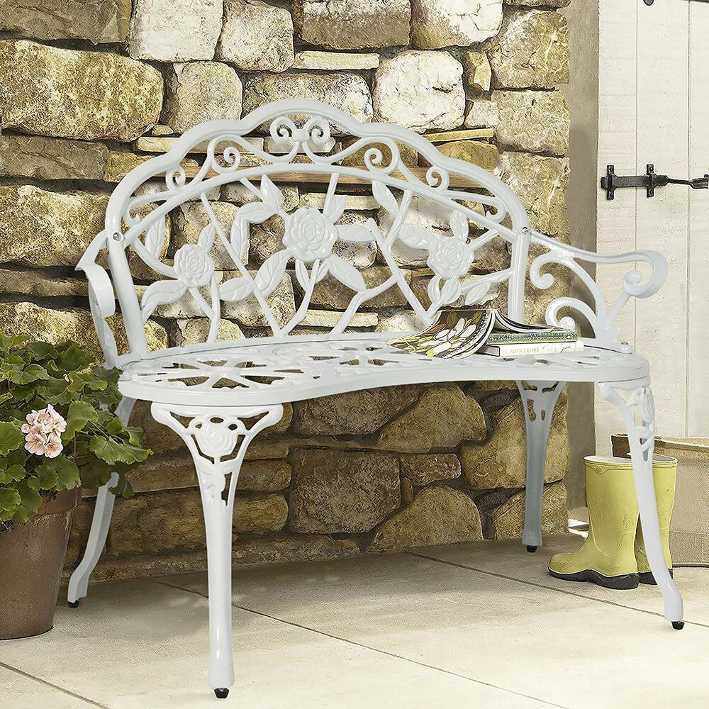 Details About Victorian Antique Vintage Style Metal Garden Bench Outdoor Patio Porch Furniture