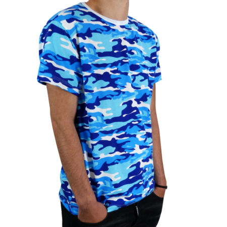 img-MENS CAMOUFLAGE CAMO DIGITAL T SHIRT IN 3 BLUE AND 1 WHITE COLORS 100% COTTON