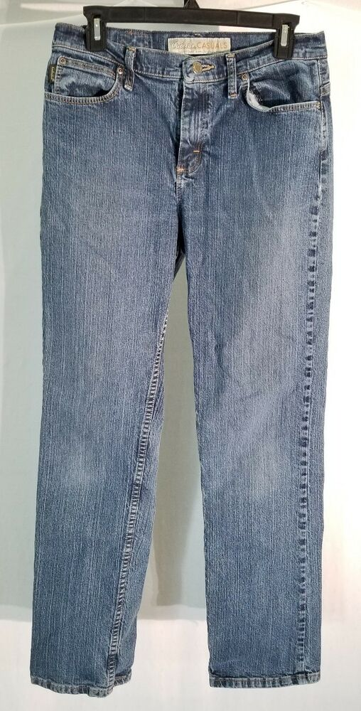Cabelas Casuals Womens Size 8 Long Straight Leg Jeans 29 X33