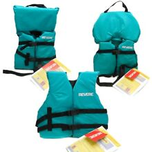 Boys Girls Life Jacket Boat Swimming Swim Vest PFD Teal Infant Child Youth