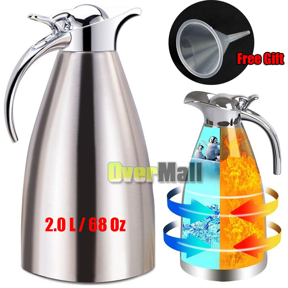 2l Stainless Steel Vacuum Insulated Thermal Carafe Coffee