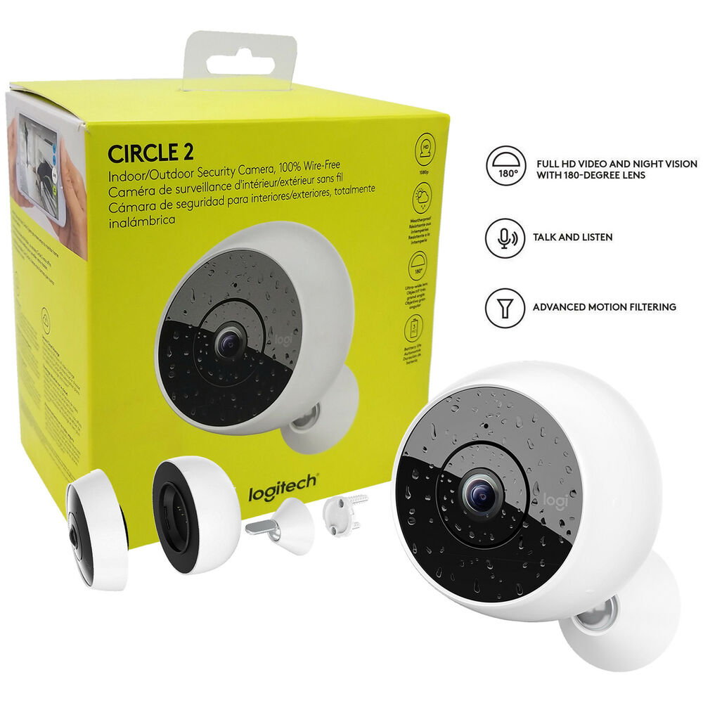 993f22e16ac Details about Logitech Circle 2 Wireless Indoor/Outdoor Home Security HD  Camera OEM
