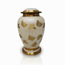 Pearl Butterfly Cremation Urn Large Urn for Ashes Adult Funeral Cremation Urn