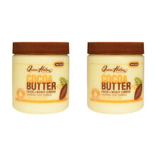 2X QUEEN HELENE COCOA BUTTER FACE + BODY CREME NTENSE MOISTURE SOOTHES SOFTENS