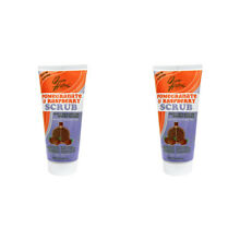 2X QUEEN HELENE POMEGRANATE & RASPBERRY NATURAL SCRUB SOOTHING RELIEF SKIN CARE