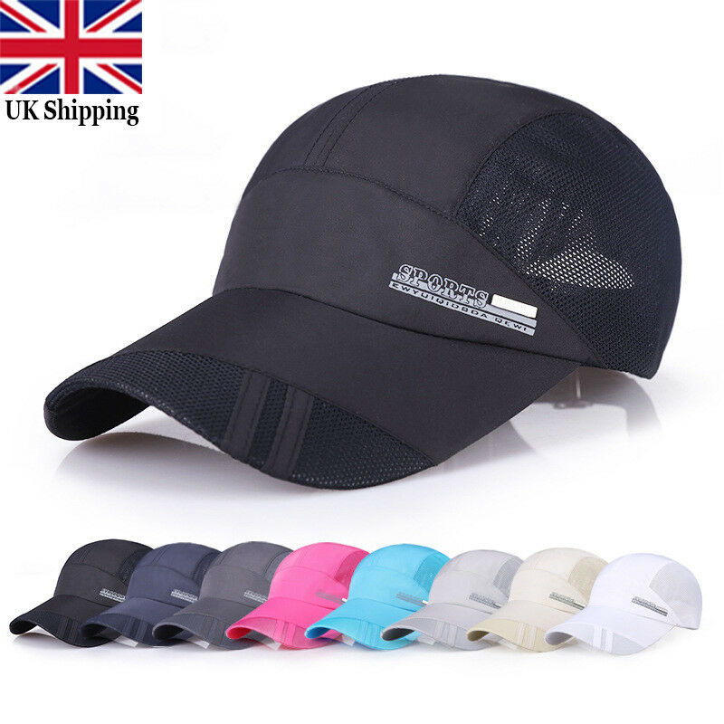 Details about Men Quick-drying Summer Outdoor Sport Running Baseball Mesh  Hat Visor Cap HOT UK f185952176a
