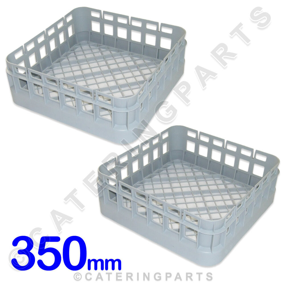 SET OF 2 x 350mm 35cm SQUARE DISH GLASS WASHER RACKS MULTI USE OPEN ...