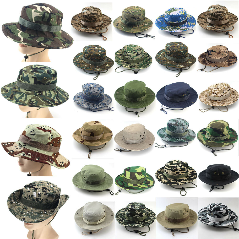 d90174a6c9f Details about Mens Bucket Hat Boonie Hunting Fishing Outdoor Wide Brim  Safari Camo Sun Cap