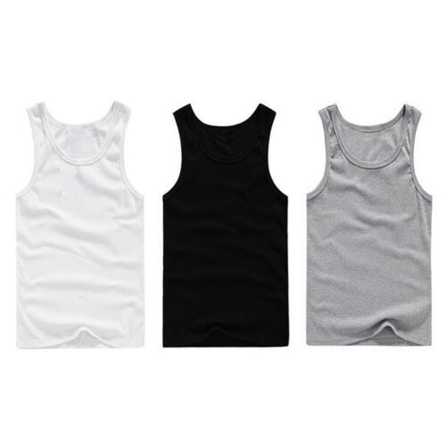 Summer Mens Sleeveless T Shirt Stringer Tank Top Cusual Sports Shirts Vests