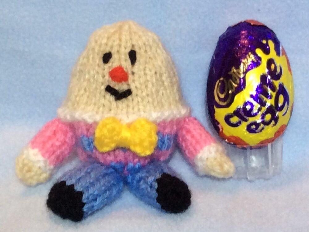 KNITTING PATTERN - Humpty Dumpty Easter chocolate cover fits Creme ...