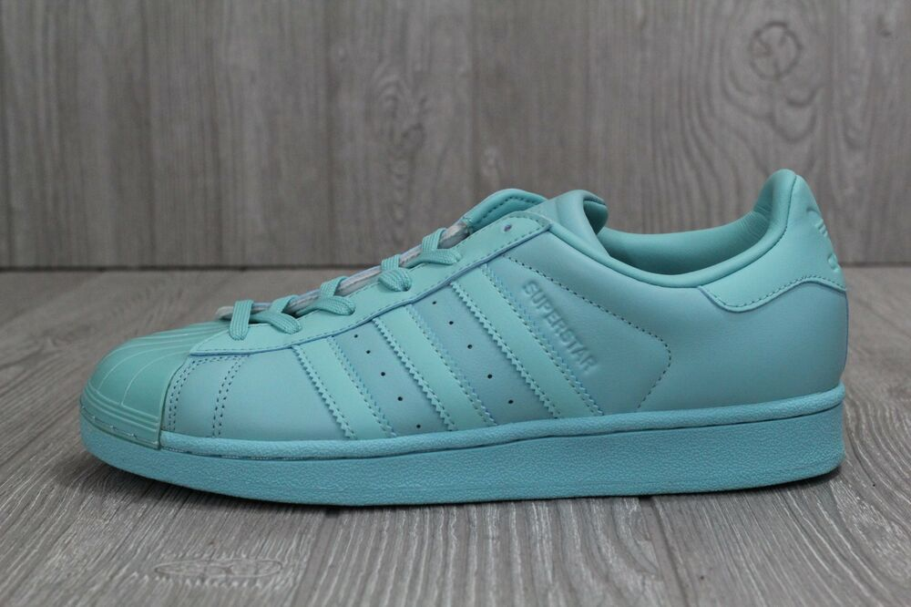 save off ca18f 6a12d Details about 30 New Adidas Originals Superstar Glossy Toe Women s Mint  Shoes BB0529 7 8 10
