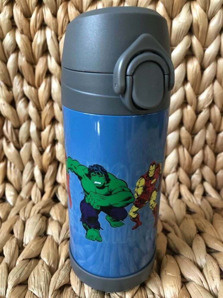 Pottery Barn Kids Medium Blue Marvel Water Bottle Sold Out