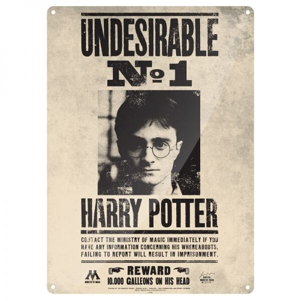 Details About Harry Potter Undesirable Large Metal Sign 400mm X 300mm Hb