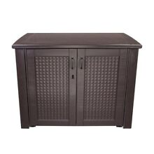 Outdoor Patio Cabinet Brown Waterproof Storage Box Deck Lockable Container Chest