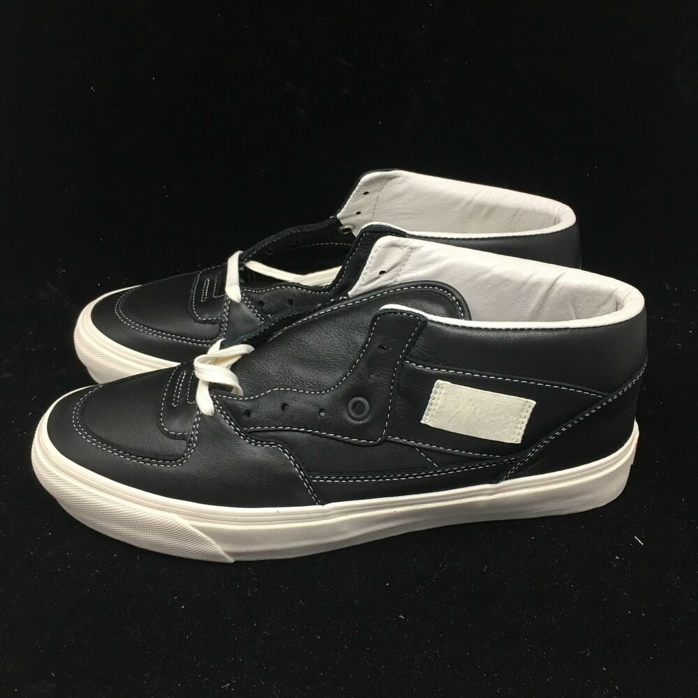 6726bbc869 VANS VAULT Men s OG Half Cab LX Leather Black DEADSTOCK VN0A3DP6L3A FAST  SHIP