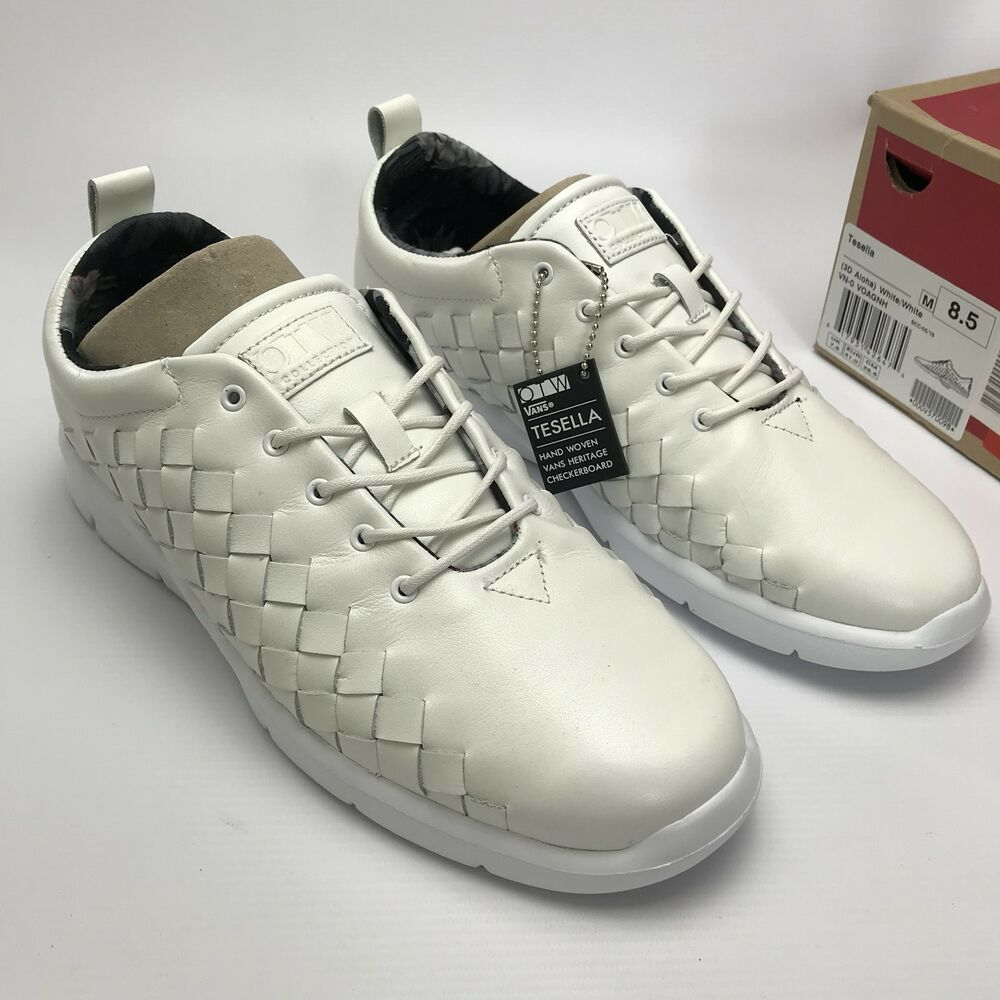 5ebcb62e72d77f Details about Vans Mens Tesella Leather 3D Aloha Sneakers trainers shoes  White size UK 7.5