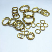 Solid Brass Open Jump Rings 5-26mm Connector 6-18Gauge Thick Heavy Duty Hardware