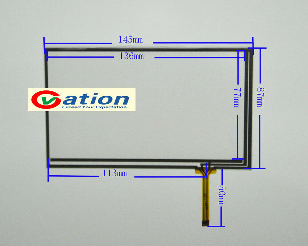6inch 4 wire Resistive Touch Screen Digitizer Gl 145x87mm ... on