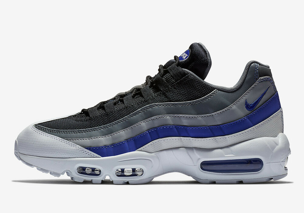 18e12747f1 Details about New Nike Men s Air Max 95 Running Shoes (749766-110) White Persian  Violet-Grey