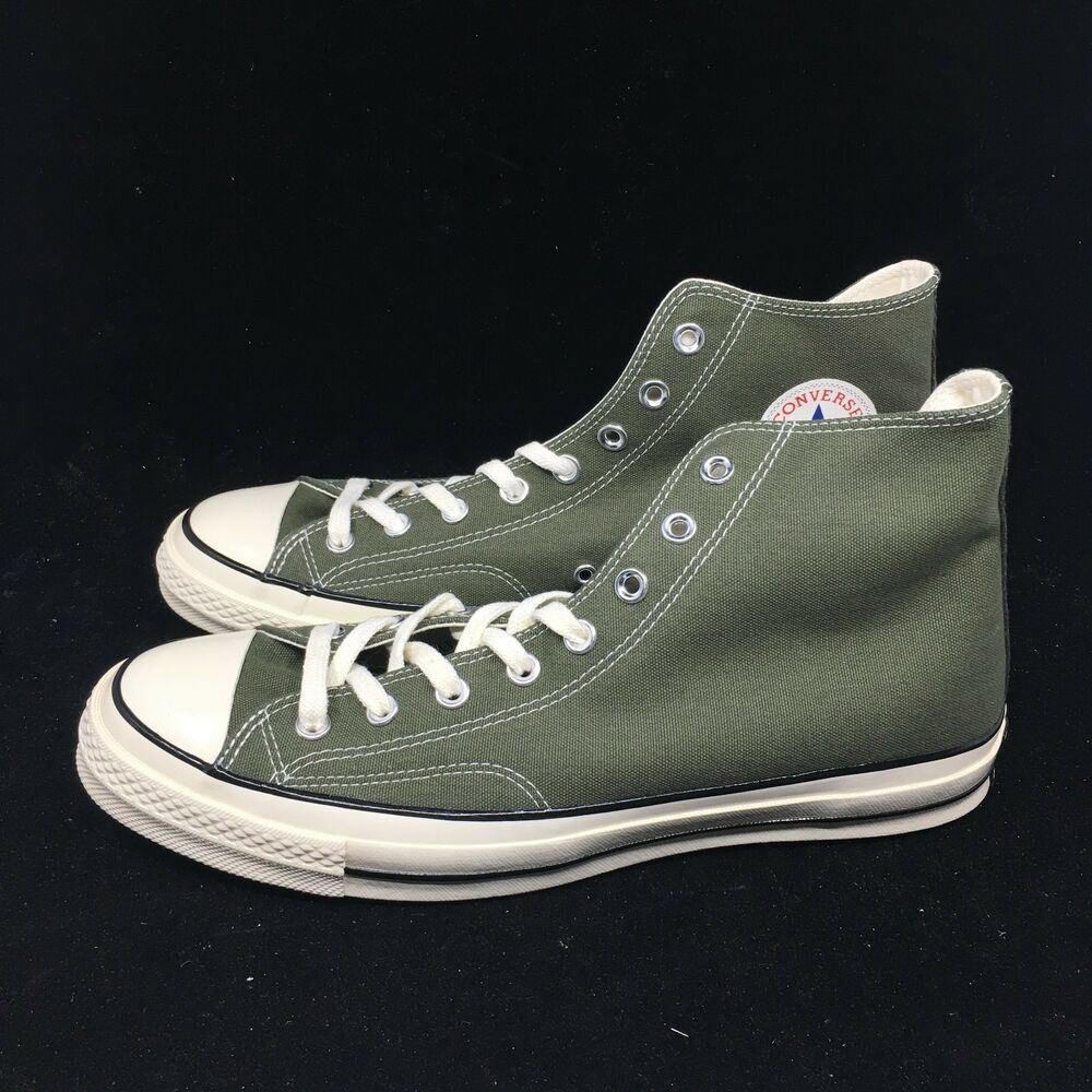 8541c7f0777 Converse Chuck Taylor All Star 70 High Top Sneakers 159771C Herbal Black  Egret