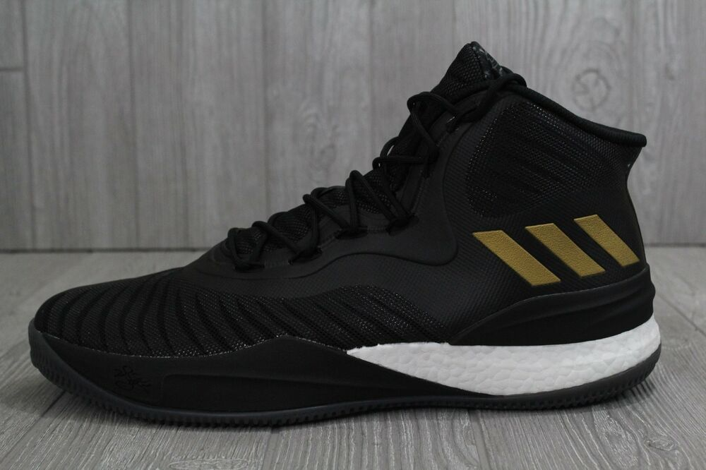 2550c4600f09 Details about 31 New Mens Adidas D Rose VIII 8 Boost Basketball Shoes Black  Gold CQ1618 SZ 15